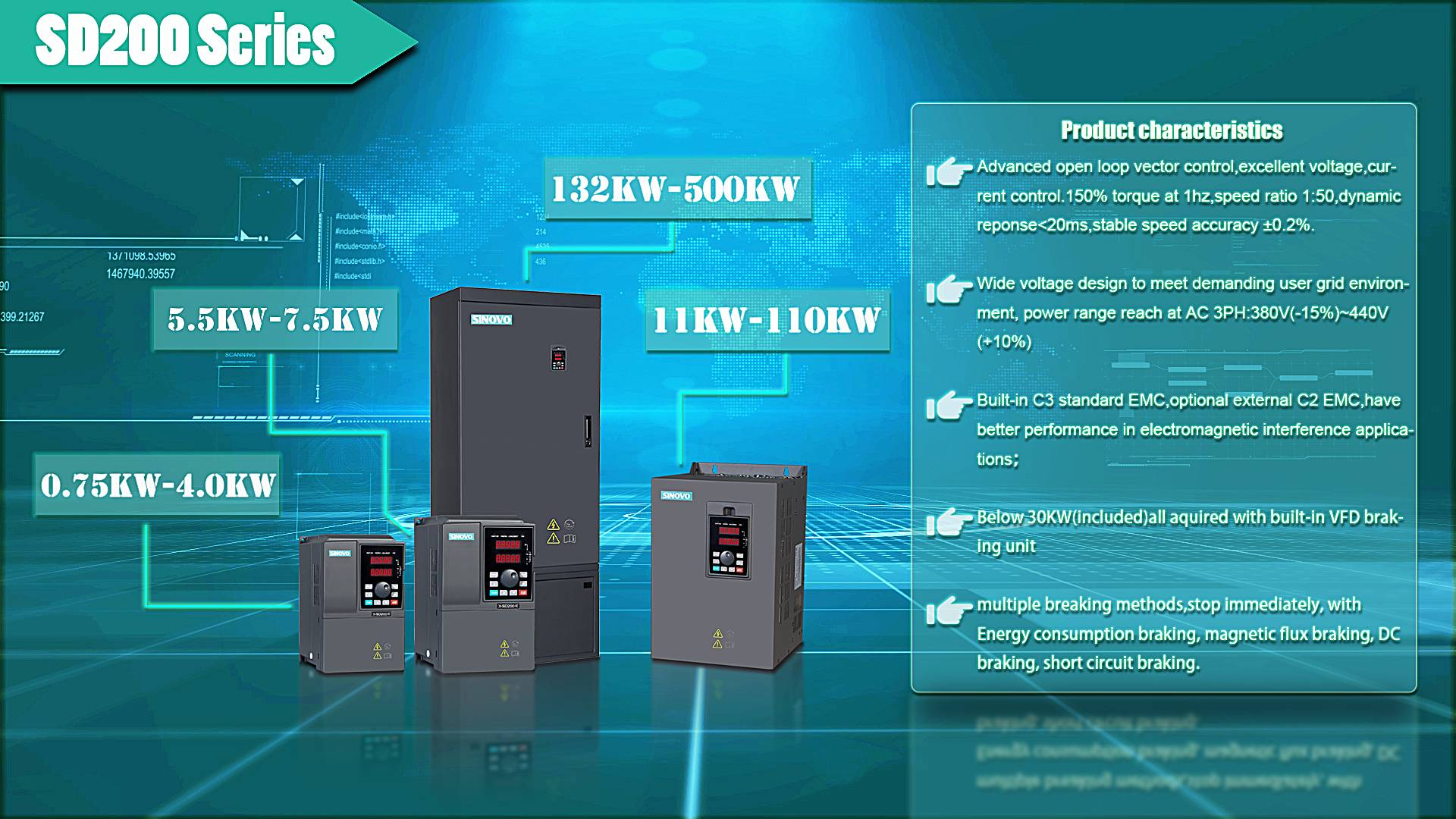 V/F Variable Speed Changer Frequency Converter