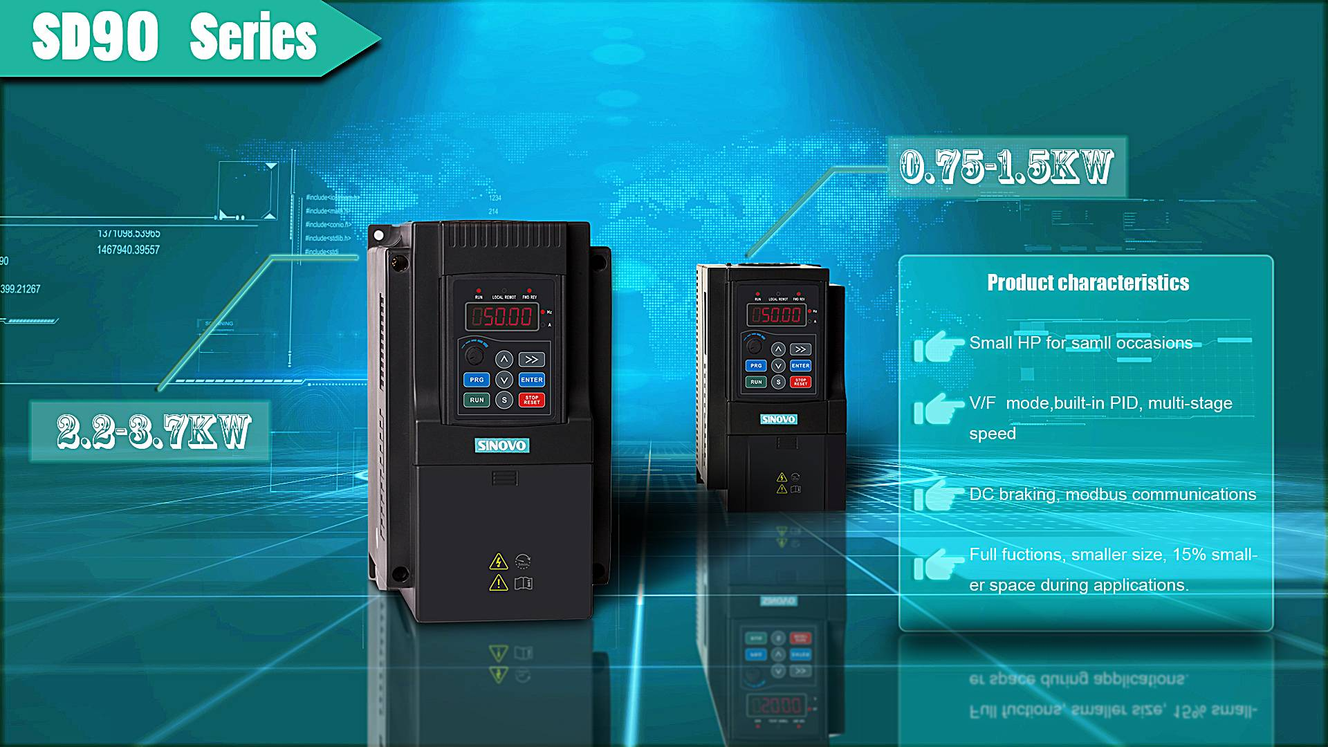 Adjustable VFD Low Voltage Frequency Inverter
